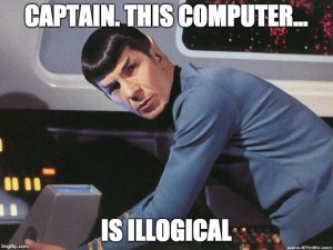 Captain this computer is illogical